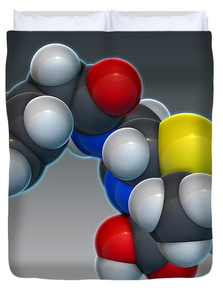 Penicillin G Molecular Model Duvet Cover