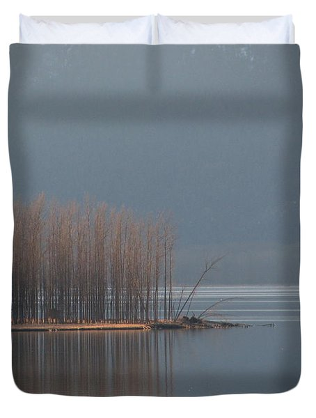 Peninsula Of Trees Duvet Cover by Leone Lund
