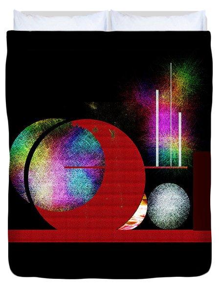 Penman Original - Many Moons  Duvet Cover by Andrew Penman