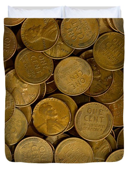 Pennies Duvet Cover