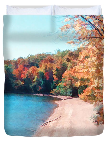 Pennsylvania Autumn 001 Duvet Cover