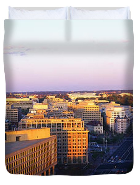 Pennsylvania Ave Washington Dc Duvet Cover by Panoramic Images