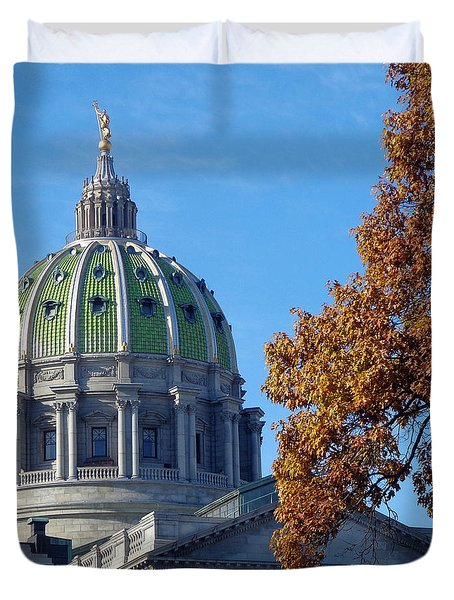 Pennsylvania Capitol Building Duvet Cover