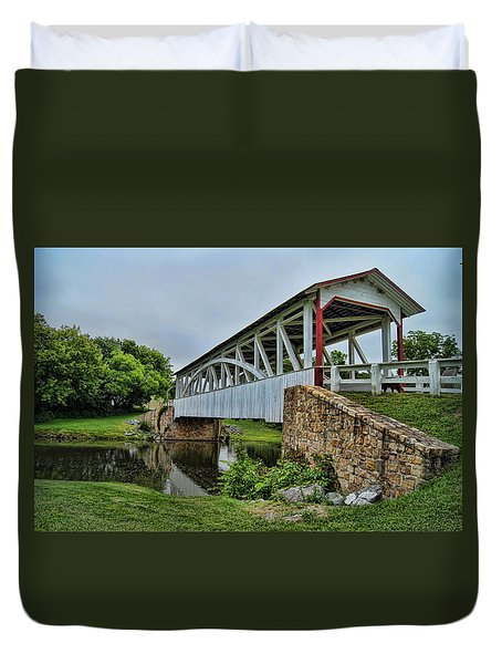 Duvet Cover featuring the photograph Pennsylvania Covered Bridge by Kathy Churchman