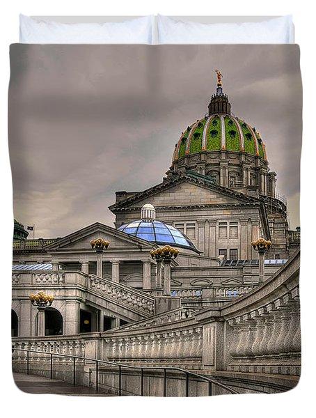 Pennsylvania State Capital Duvet Cover