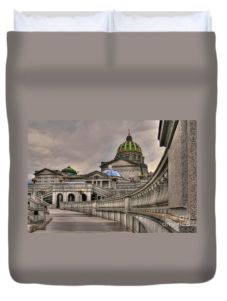 Pennsylvania State Capital Duvet Cover