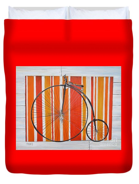 Penny-farthing Duvet Cover by Marilyn  McNish