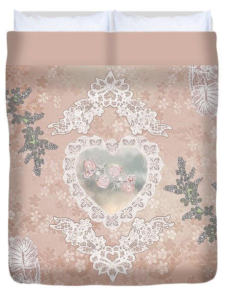 Penny Postcard Passionate Duvet Cover