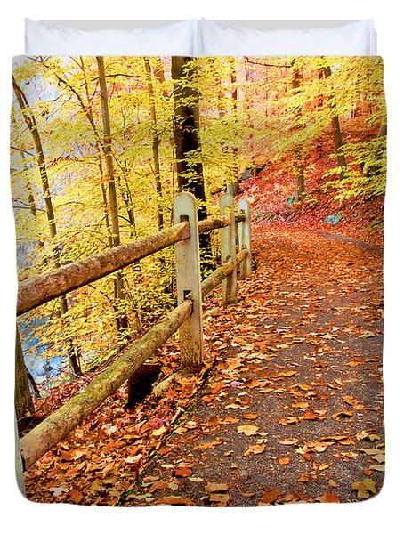 Pennypack Trail Philadelphia Fall Duvet Cover