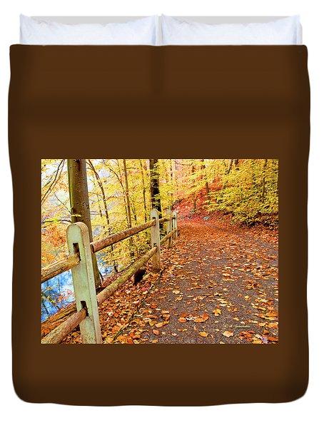 Pennypack Trail Philadelphia Fall Duvet Cover