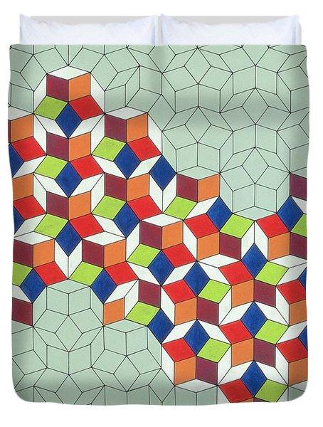 Penrose's Conundrum Duvet Cover by Peter Hugo McClure