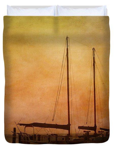 Pensacola Harbor Duvet Cover