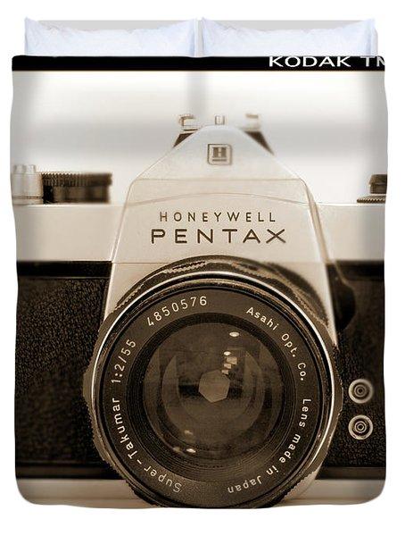 Pentax Spotmatic IIa Camera Duvet Cover by Mike McGlothlen