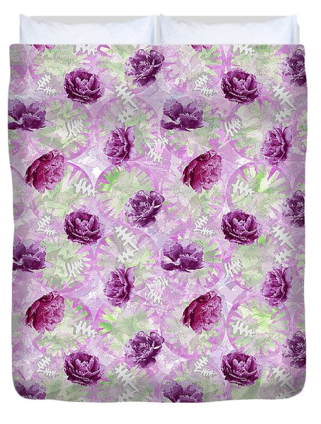 Duvet Cover featuring the photograph Peonies by Jocelyn Friis
