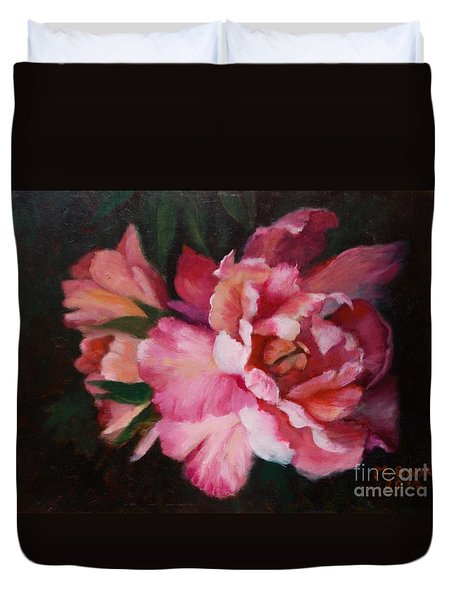 Peonies No 8 The Painting Duvet Cover