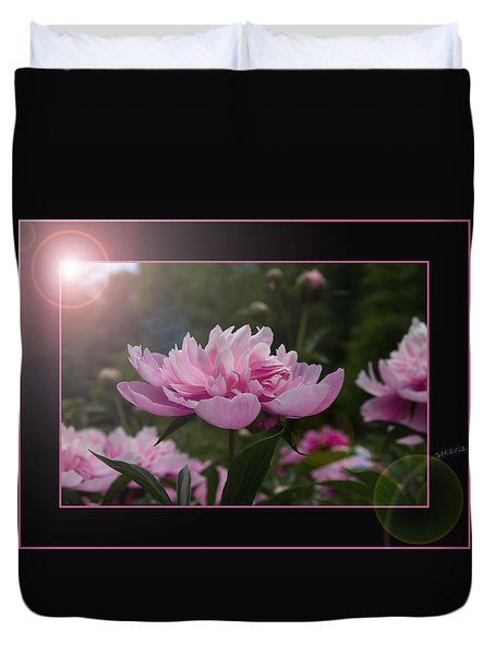 Peony Garden Sun Flare Duvet Cover by Patti Deters