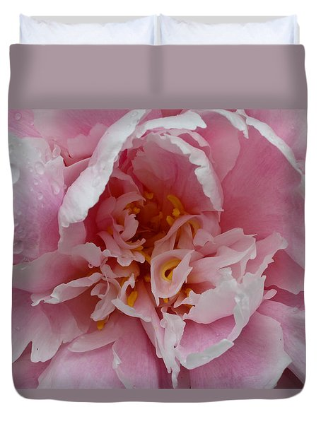 Peony Love Duvet Cover by Julie Andel