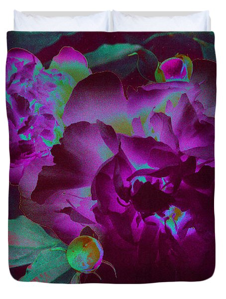 Peony Passion Duvet Cover by First Star Art