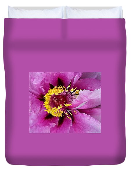 Peony Revealed Duvet Cover