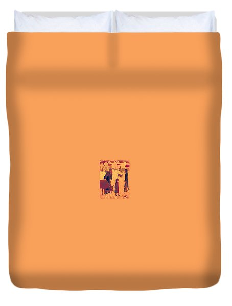 People Of Derbent Duvet Cover