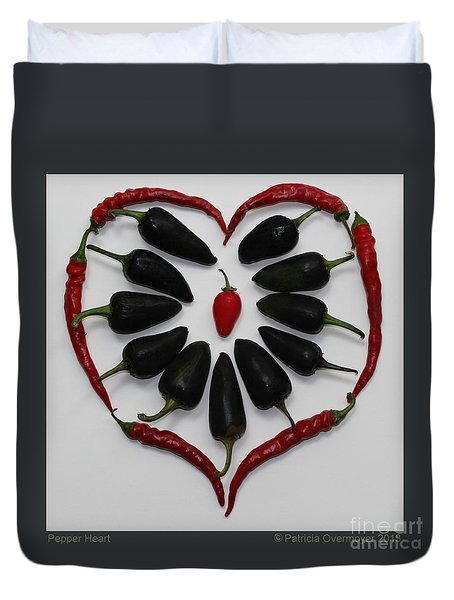 Pepper Heart Duvet Cover