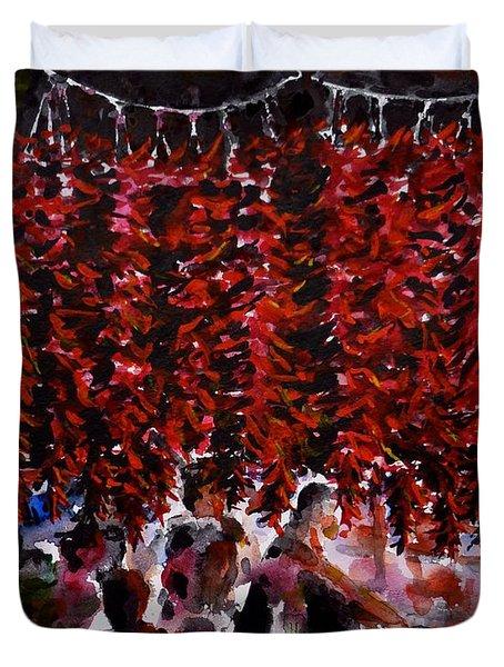 Pepper Duvet Cover by Zaira Dzhaubaeva