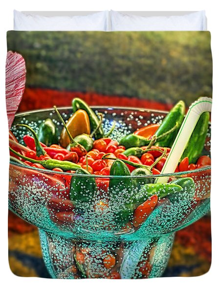 Duvet Cover featuring the photograph Pepperita by Gary Holmes
