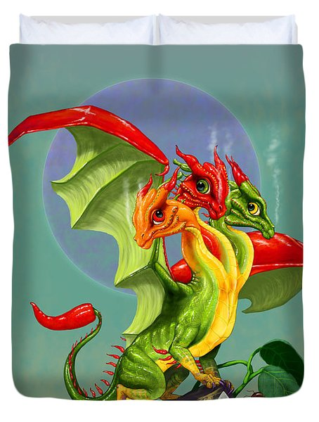 Peppers Dragon Duvet Cover by Stanley Morrison