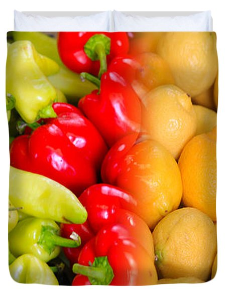 Peppers To Pucker Duvet Cover