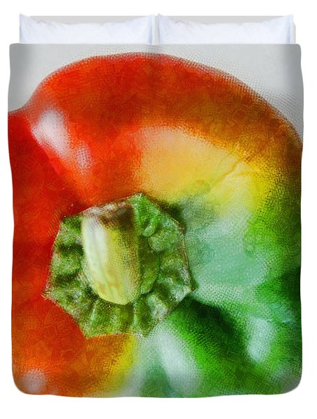 Peppery Allsorts  Duvet Cover by Steve Taylor