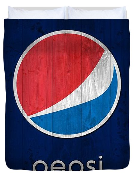 Pepsi Barn Sign Duvet Cover by Dan Sproul