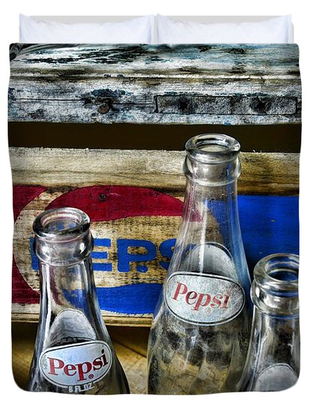 Pepsi Bottles And Crates Duvet Cover