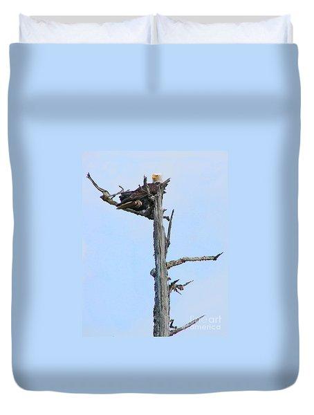 Perched Eagle Duvet Cover
