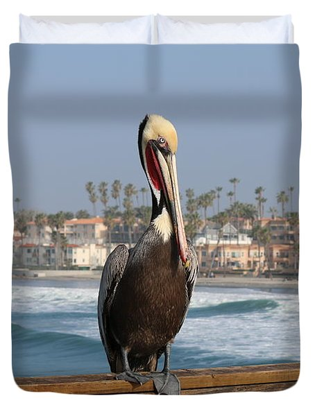 Perched On The Pier Duvet Cover