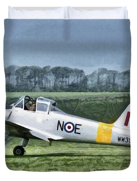 Duvet Cover featuring the digital art Percival Provost Textured Canvas by Paul Gulliver