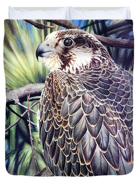 Da138 Peregrine Falcon By Daniel Adams Duvet Cover