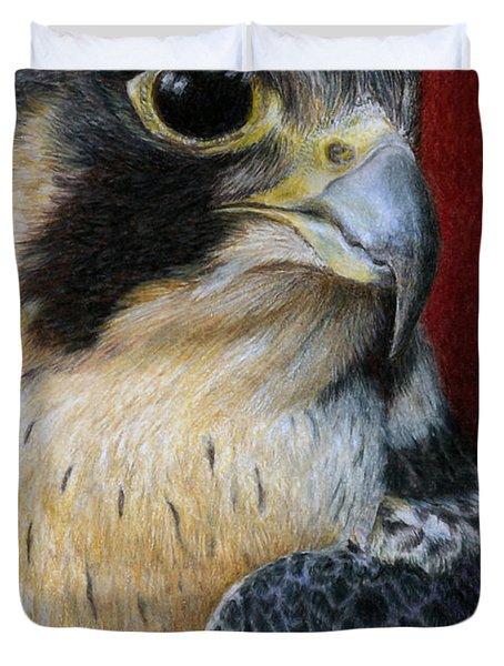 Peregrine Falcon Duvet Cover by Pat Erickson