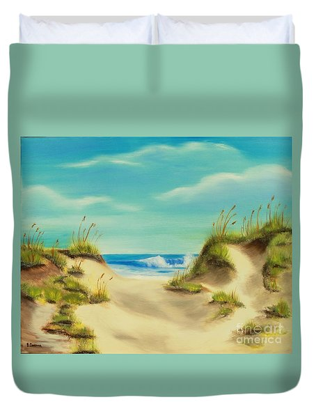Perfect Beach Day Duvet Cover by Bev Conover