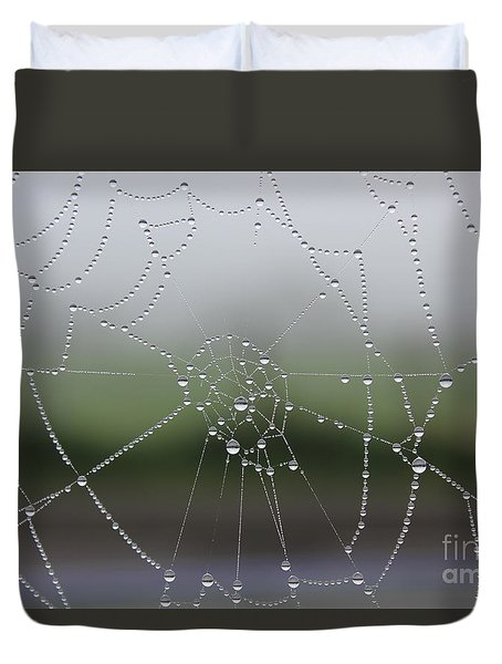 Perfect Circles Duvet Cover by Vicki Spindler
