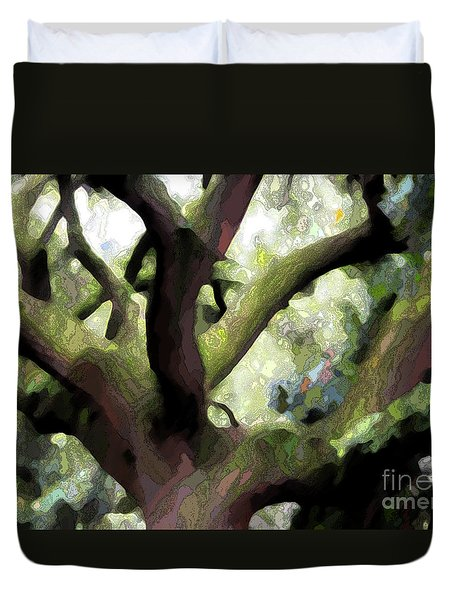 Perfect Climbing Tree  Duvet Cover by Carol Groenen