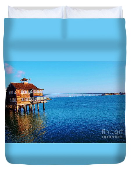 Duvet Cover featuring the photograph Perfect Day In San Diego by Jasna Gopic