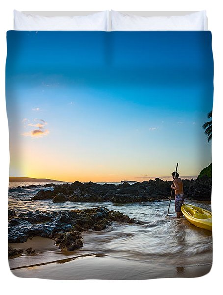 Perfect Ending - Beautiful And Secluded Secret Beach In Maui Duvet Cover