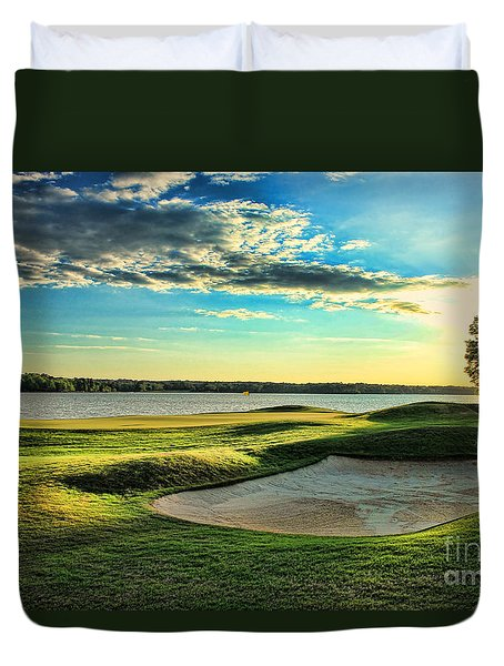 Perfect Golf Sunset Duvet Cover