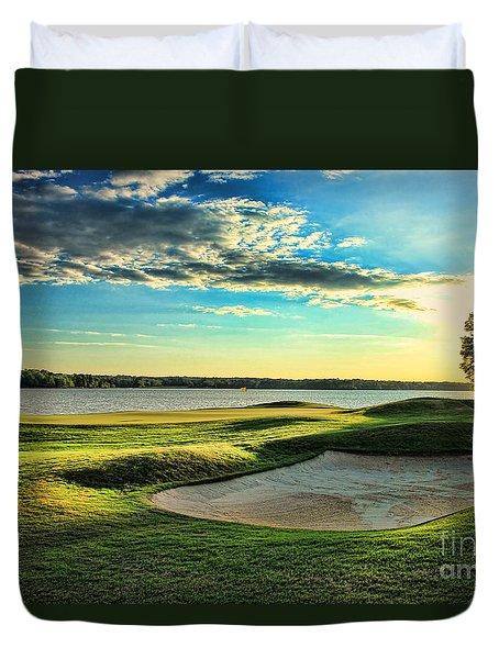 Perfect Golf Sunset Duvet Cover