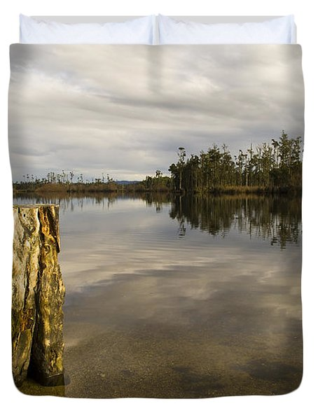 Perfect Lake Duvet Cover by Tim Hester