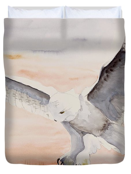 Perfect Landing Duvet Cover by Joette Snyder
