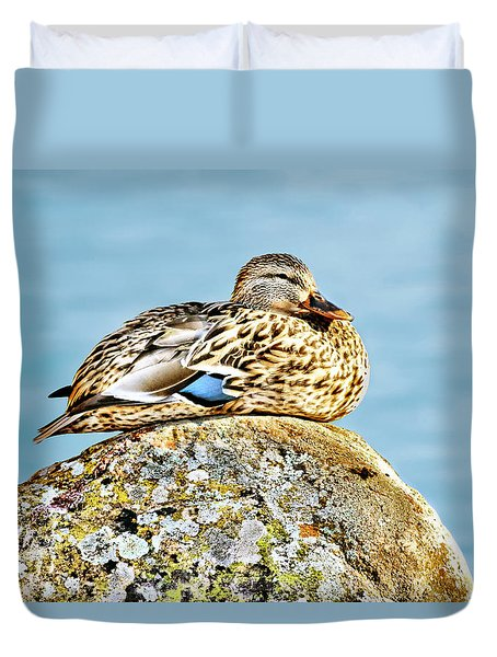 Perfect Resting Rock Duvet Cover