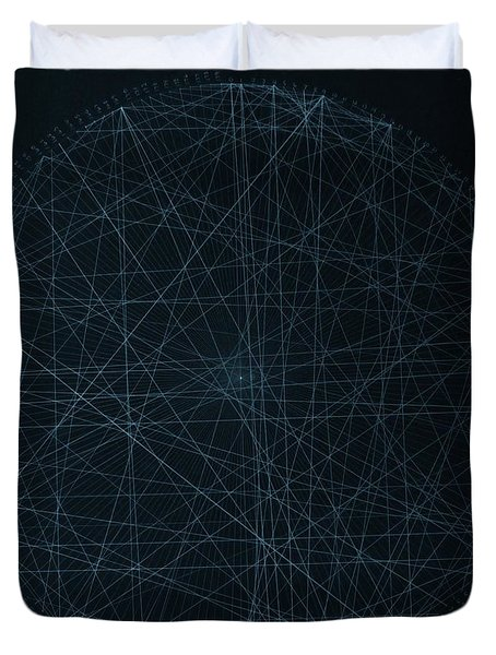 Duvet Cover featuring the drawing Perfect Square by Jason Padgett