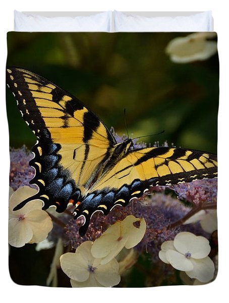 Perfect Tiger Swallowtail Butterfly Duvet Cover by Byron Varvarigos