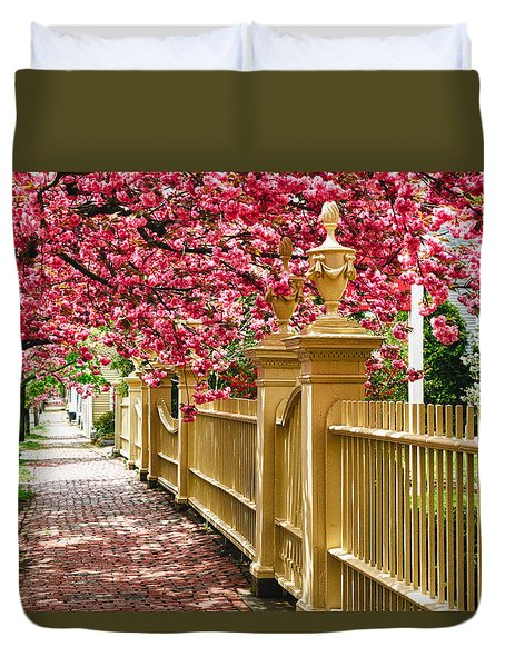 Perfect Time For A Spring Walk Duvet Cover